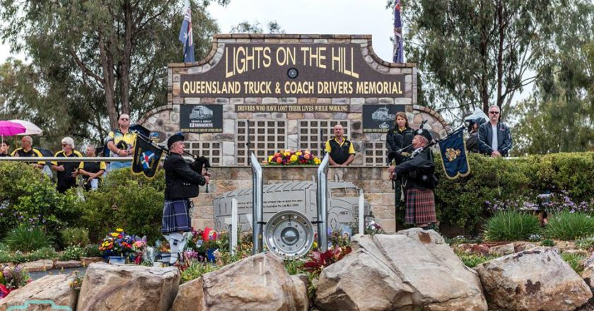Lights on the Hill Trucking Memorial